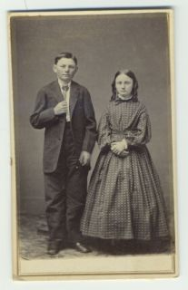 Civil War Era CDV Young Boy Girl Brother Sister