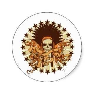 Skull Headdress 2 Sticker