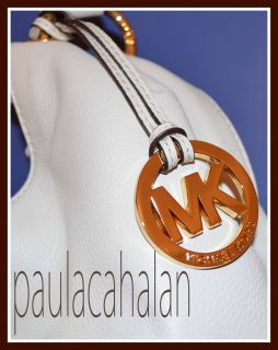 Michael Kors Layton Shoulder Tote Handbag Vanilla Leather