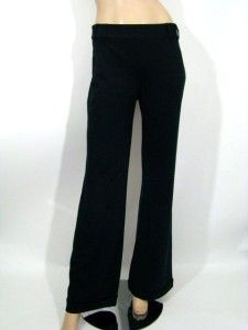 New Diane Gilman DG2 Black Dress Wide Leg Pants Cuffs 2