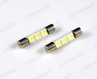 2X White Vanity LED Light Bulbs Mirror Fuse Sun Visor