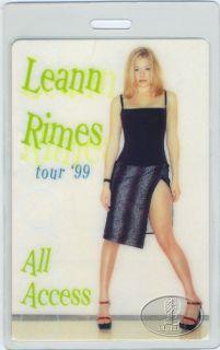 Leann Rimes 1999 Laminated Backstage Pass