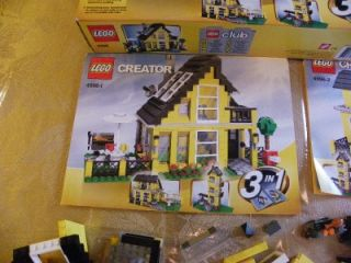 RARE Lego 4996 Lego Creator Beach House with 3 Manuals Parts Pcs
