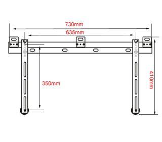 Ultra Slim LED TV Wall Mount Bracket Samsung 40 46 55