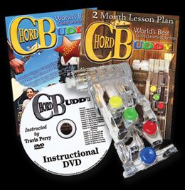 Chord Buddy Learn to Play Guitar Easy System DVD Book Chordbuddy