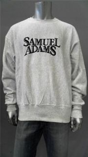 Lee Samuel Adams Mens XL Casual Pullover Sweater Gray Logo Top