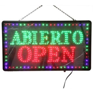 Large LED Abierto Open Business Sign with Motion Switch 27 2x15 5 U s
