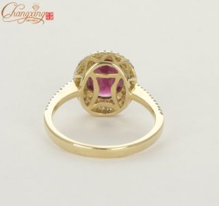 New Natural 2 35ct Red Ruby Diamond Solid 14k Yellow Gold Engagement