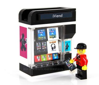 Ivend Vending Machine Lego® Custom Food 10185 10182 City Train 10224