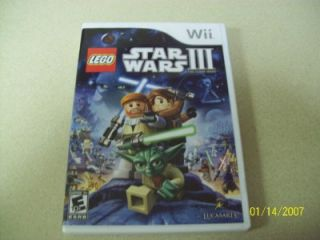 Lego Star Wars III The Clone Wars Wii 2011 Complete Mint