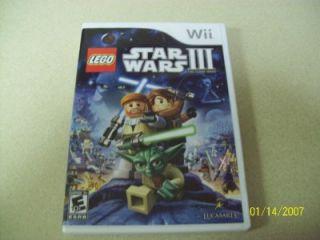 Lego Star Wars III The Clone Wars Wii 2011 Complete Mint