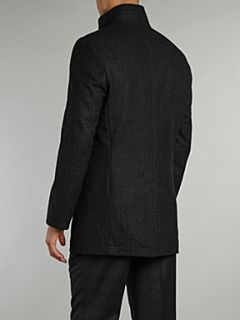 Kenneth Cole Funnel neck coat Charcoal