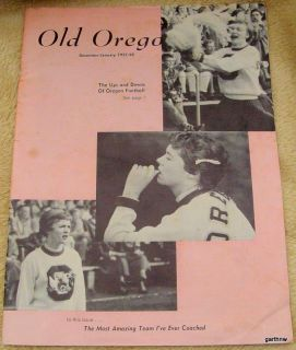 Len Casanova Oregon Ducks Football Coach RARE 1958 Rose Bowl Personal