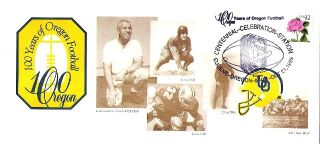 Ducks Football 1995 100th Rose Bowl Art Cover Len Casanova 1917