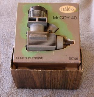 Testors McCoy 40 Series 21 Model Airplane Helicopter Aircraft Engine