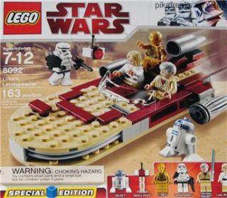 Lukes Landspeeder Lego 8092 Star Wars Classic Brand New 2010 Play Set