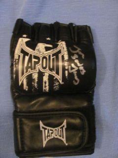 Jon Bones Jones Autographed MMA Tapout Glove
