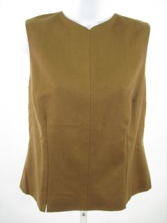 Lee Anderson Brown Sleeveless Shell Shirt Top Sz M
