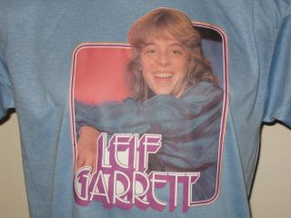 Vintage 1978 Leif Garrett T Shirt Medium Rock Pop Concert Tour Soft