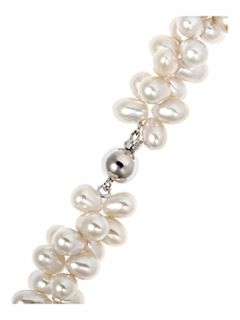 Azendi Callisto Double Strand Twisted Pearl Necklace