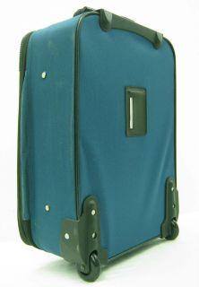 Leisure Rolling Expandable Luggage Turquoise Suitcase