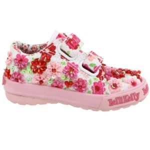 Lelli Kelly Primula Pink Red White Shoe Floral Sneakers