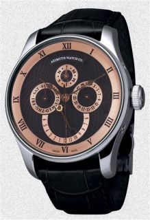Calendrier Watch Day Date Month Day Night Rose Black ETA Auto