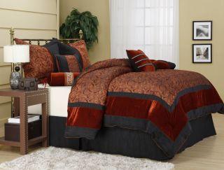 Lenore 7 Piece Comforter Set Bed in Bag Brand New Queen