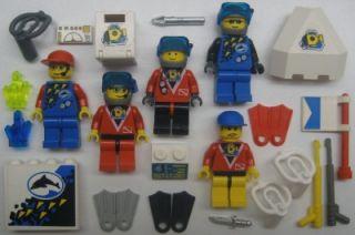 Lego Scuba Diver Minifigs Lot Town City Underwater Man Diving Figure