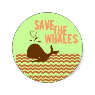 Save The Whales   Environmentally Conscious Sticker