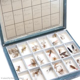 Flies Fly Fishing Flies w Boxes Chas H Kewell Leland Upgrade