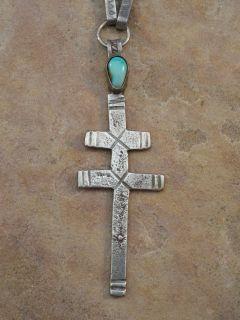 Stunning Vintage Leo Coriz Sterling Turquoise Necklace