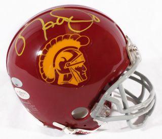 Matt Leinart Signed USC Trojans Mini Helmet Leinart Holo JSA Certified