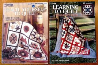 Lot Of 7 Leisure Arts Quilting Books Hearts To Quilt, Spring Beauty
