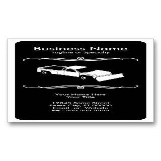 mod snow plow business cards