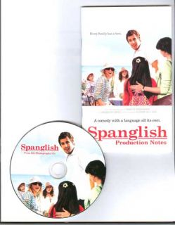 Spanglish 2004 CD Press Kit Adam Sandler Tea Leoni