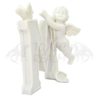 Cherub Angel Small White Wall Decor Cake Topper TR5554 Shelf Sitter