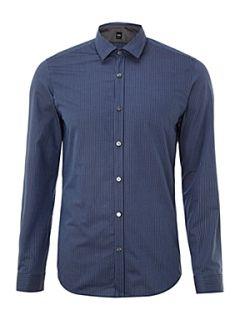 Hugo Boss Lerenzo tonal striped shirt Blue