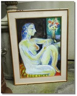 Leopoldo PRESAS (1915 2009) oil painting Argentina Buenos Aires RARE w