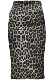 Knee Length Tiger Leopard Animal Print Pencil Skirt 6 8 10 12