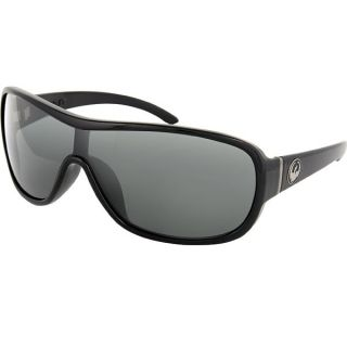 Dragon Transit Sunglasses Jet Black Frame Grey Lens