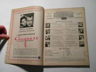 Tyrone Power Alice Faye Movie Story Magazine 1937 Greta Garbo