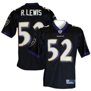 Baltimore Ravens Ray Lewis Premier Black Jersey XXL