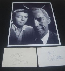 Ray Walston Bill Bixby Signed Cards Great My Favorite Martian Print