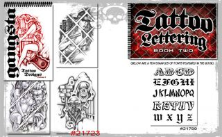 Supplies 2 Book Gangster Art Prison Style + Lettering Script Names