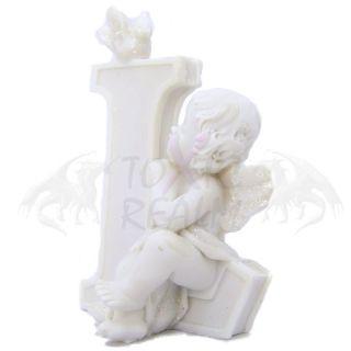 Cherub Angel Small White Wall Decor Cake Topper TR5553 Shelf Sitter