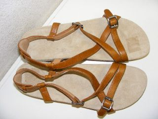 Tatami Birkenstock Leyla Womens 11 Sandal Brown Leather Strappy Buckle