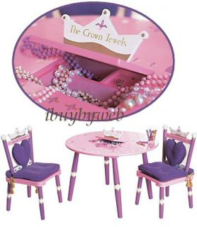 Levels of Discovery Kids Pink Purple Always A Princess Table 2 Chairs