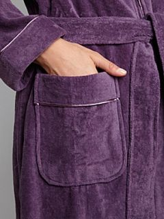 Linea Velour long robe Purple