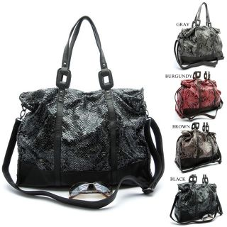 Skin Python Shoulder Bag Hobo Satchel Tote Purse Animal Print Handbag